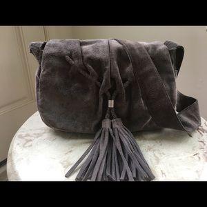 Banana Republic Suede Grey Crossbody Bag